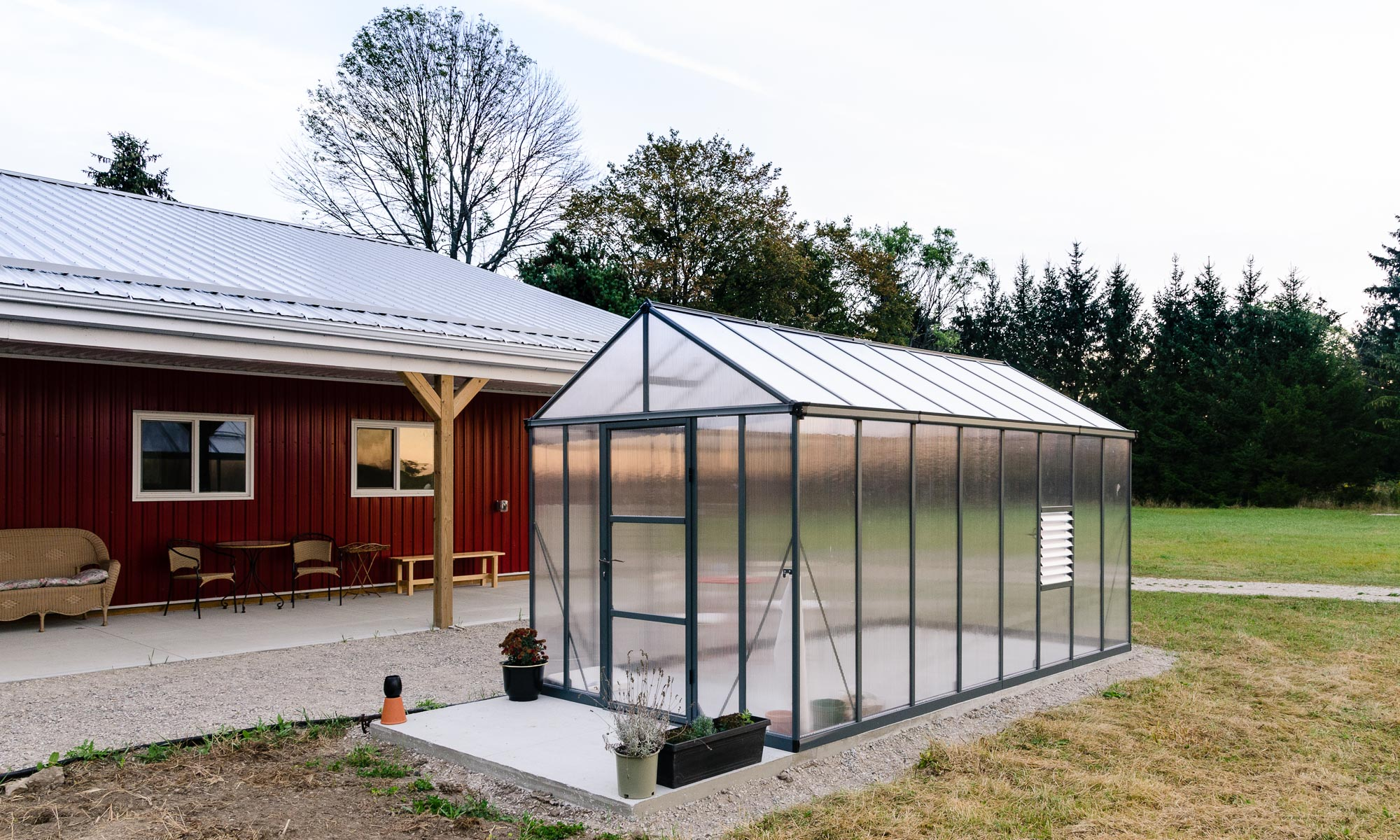 The New Palram Glory 8'x16' Greenhouse at White Tree Farm